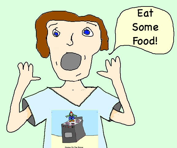 Eat some food gnome shirt