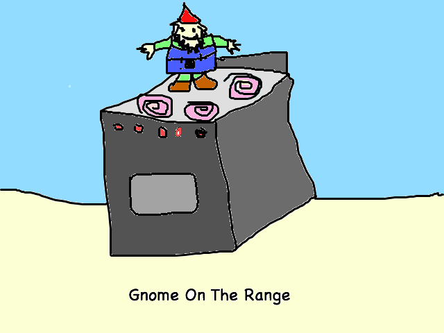 Gnome On The Range labeled