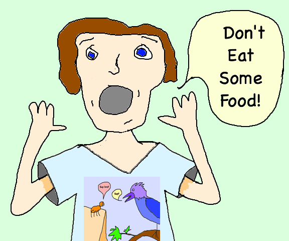 eat some food dont spider bird shirt