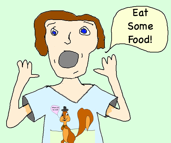 eat some food squirrel shirt