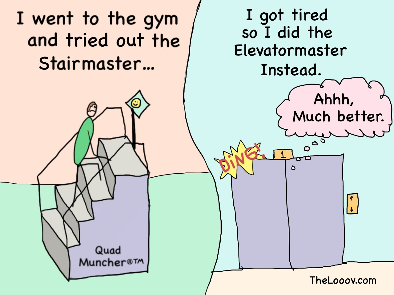 Stairmaster one panel